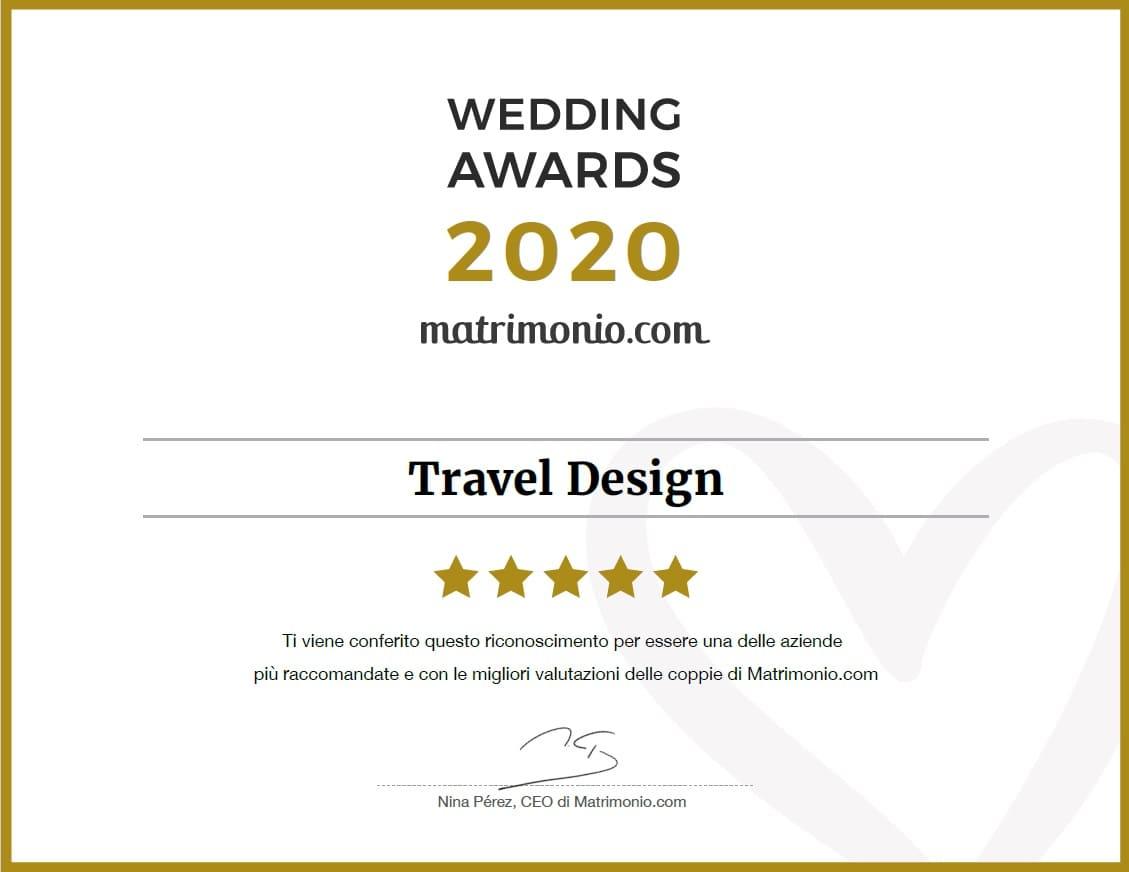 travel design premio matrimonio.com 2020